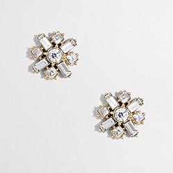 Factory crisscross crystal earrings