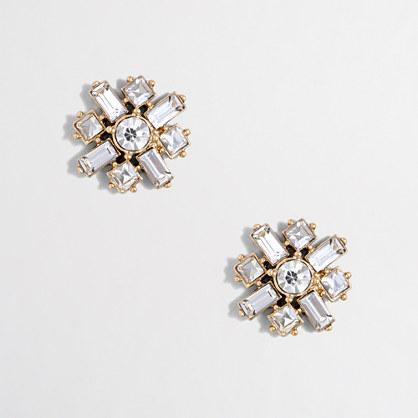 Crisscross crystal earrings