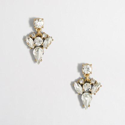 Crystal arrow drop earrings
