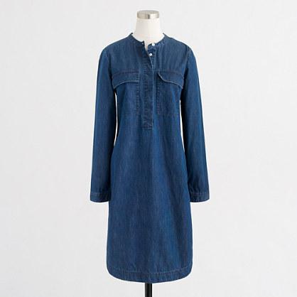 Light indigo shirtdress