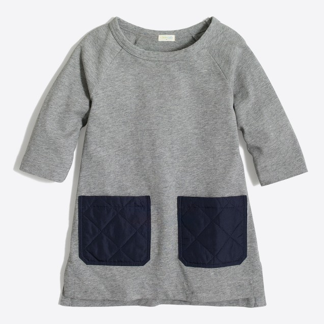 Girls' quilted pocket tunic