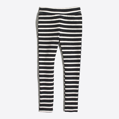 Girls' striped toasty leggings