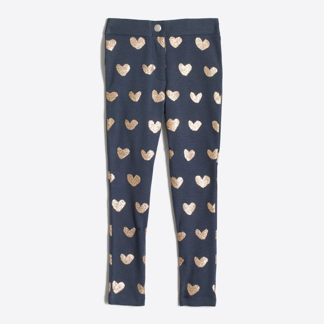 Girls' Gigi pant in sparkle hearts