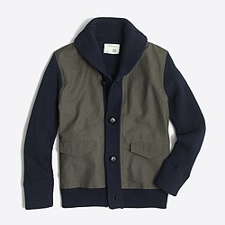 Boys' chino sweater-jacket