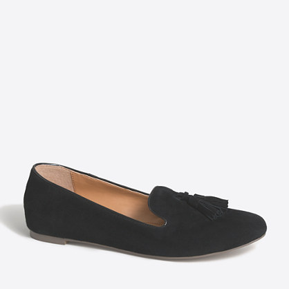 Cora suede tassel loafers