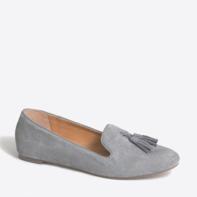 Cora suede tassel loafers
