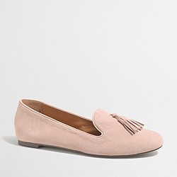 Factory suede Cora tassel loafers