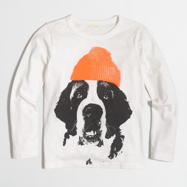 Boys' long-sleeve Saint Bernard storybook T-shirt