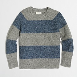 Boys' striped Donegal crewneck sweater