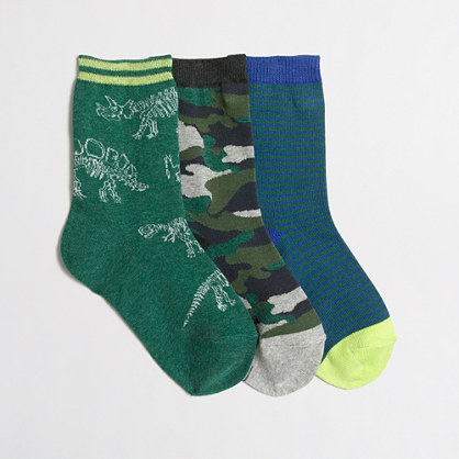 Boys' dino socks
