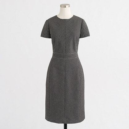 Matrix jacquard dress