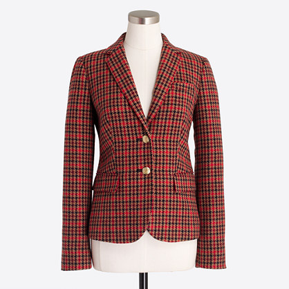 Patterned schoolboy blazer