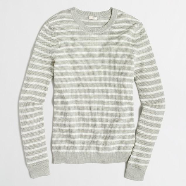 Striped waffle sweater