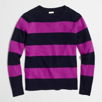 Wide-stripe sweater