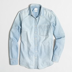 Factory pocket chambray shirt