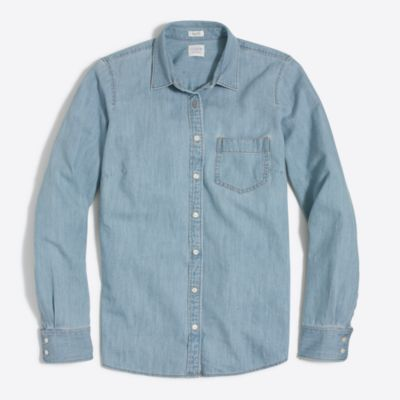 Pocket chambray shirt factorywomen shirts & tops c