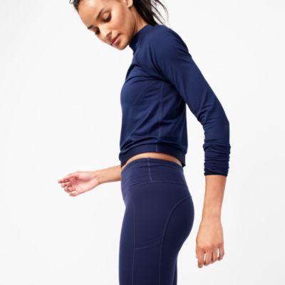 New Balance® for J.Crew long-sleeve crop top factorywomen online exclusives c