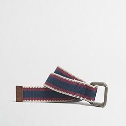 Multicolor webbing belt