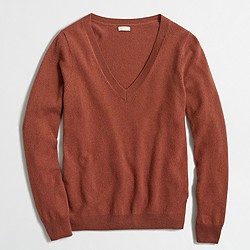 Factory cashmere V-neck sweater