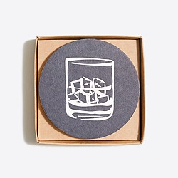 Cocktail paper coasters