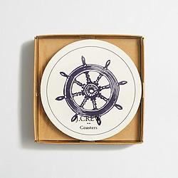 Nautical paper coasters