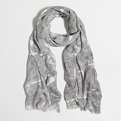 Factory printed scarf