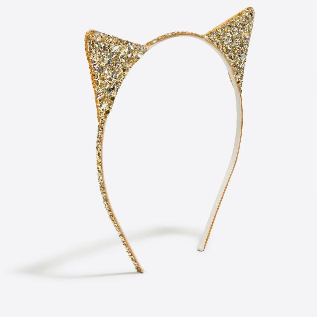 Girls' glitter cat ears headband