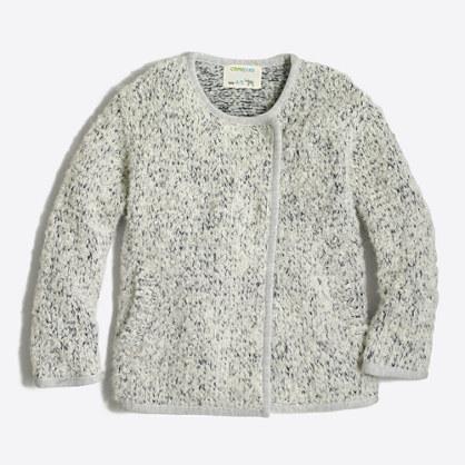 Girls' fuzzy sweater jacket