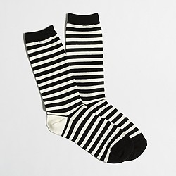 Factory striped trouser socks