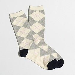 Factory argyle trouser socks