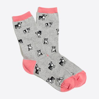 French bulldog trouser socks