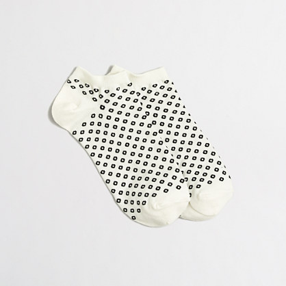 Open dot tennie socks