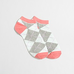 Argyle tennie socks