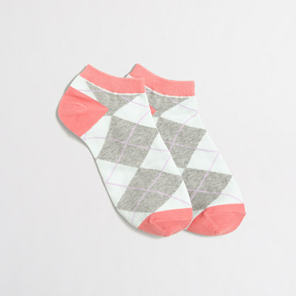 Argyle tennie socks