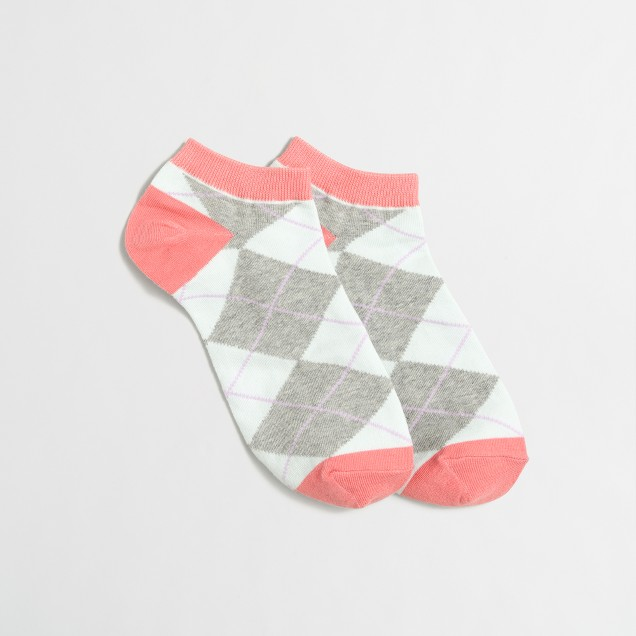 Argyle tennis socks