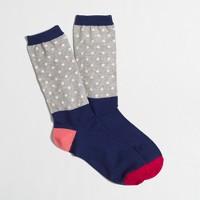 Blocked dot trouser socks