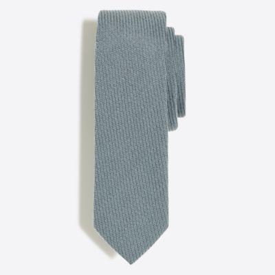 Wool textured tie