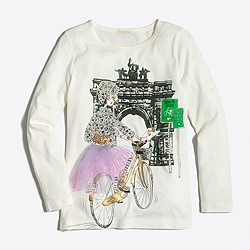 Girls' long-sleeve Brooklyn girl keepsake T-shirt