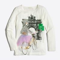 Girls' long-sleeve Brooklyn girl keepsake T-shirt