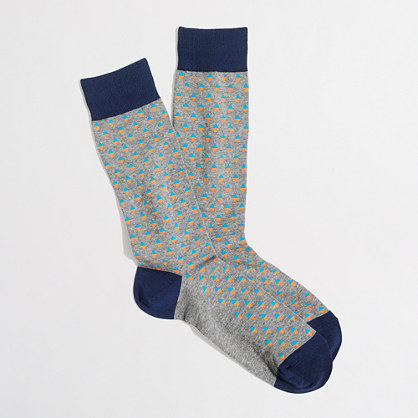 Neon diamond socks