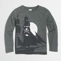 Boys' long-sleeve glow-in-the-dark pirate ship storybook T-shirt