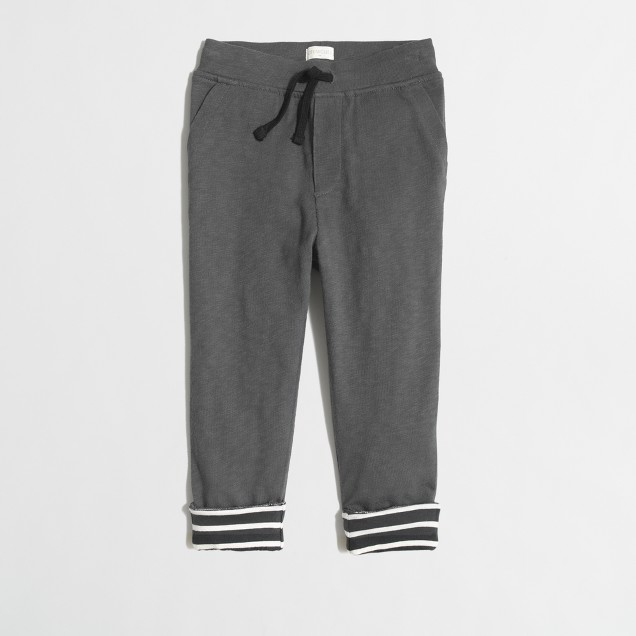 Boys' jersey-lined slim slouchy sweatpant