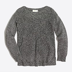 Girls' marled cotton popover sweater