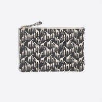 Canvas printed pencil pouch