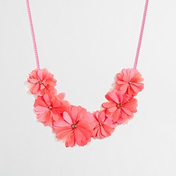 Factory girls' fabric petal necklace