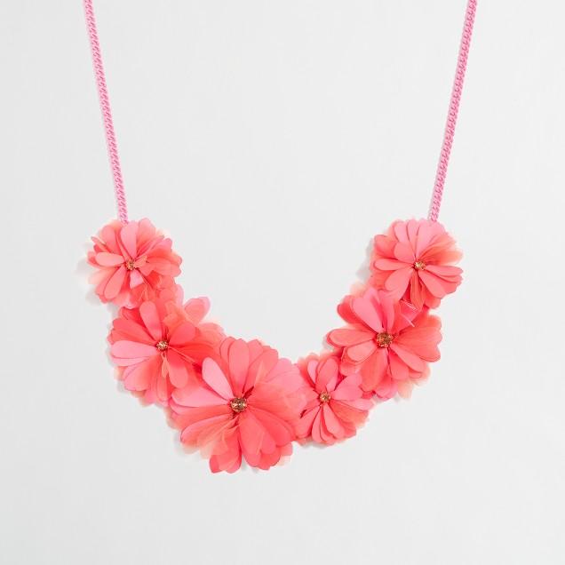 Girls' fabric petal necklace