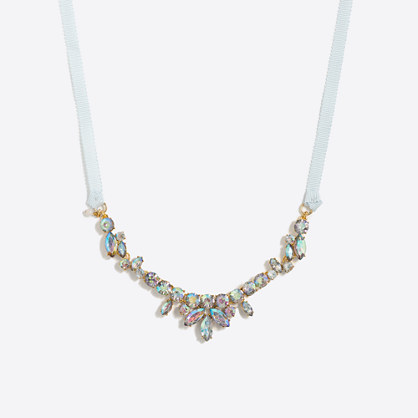Girls' iridescent stone necklace
