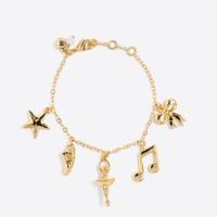 Girls' ballerina charm bracelet
