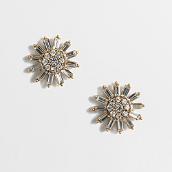 Factory crystal sunburst earrings