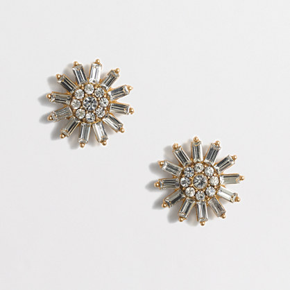 Crystal sunburst earrings